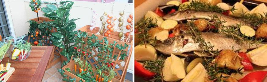 家庭菜園の採れたてを新鮮野菜で。