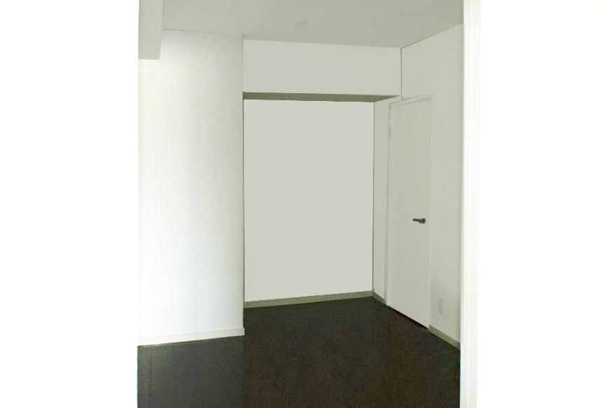リビングへ続く部屋が部屋として使えるくらいの広さ。