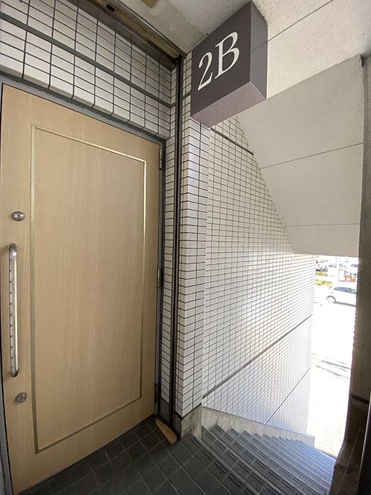 サンシャイン中郷2B玄関