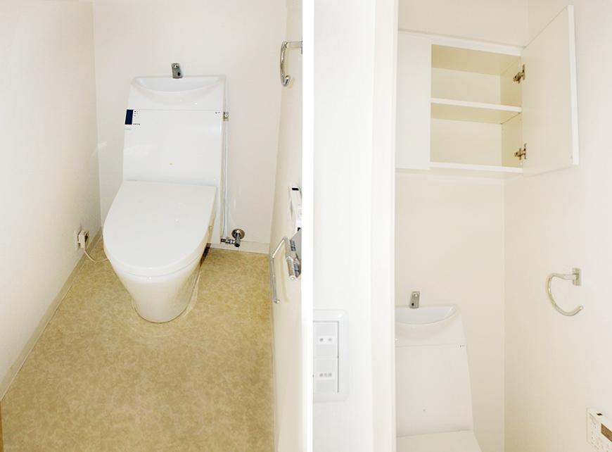 トイレも収納に優れています。