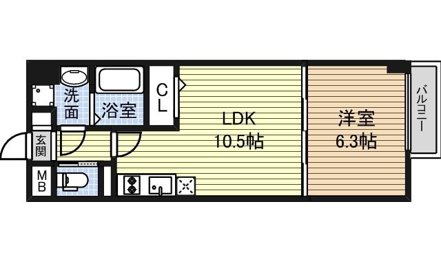 フロンティアタワー1405号室