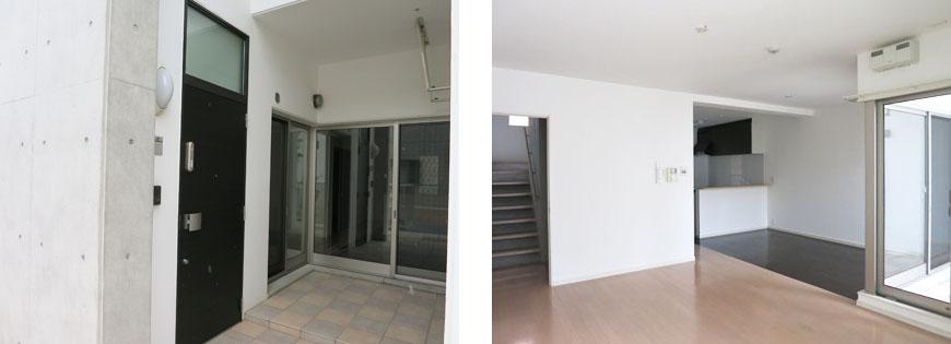 空間がまるごとスタイリッシュにデザインされています。東山玄関とリビング870補正
