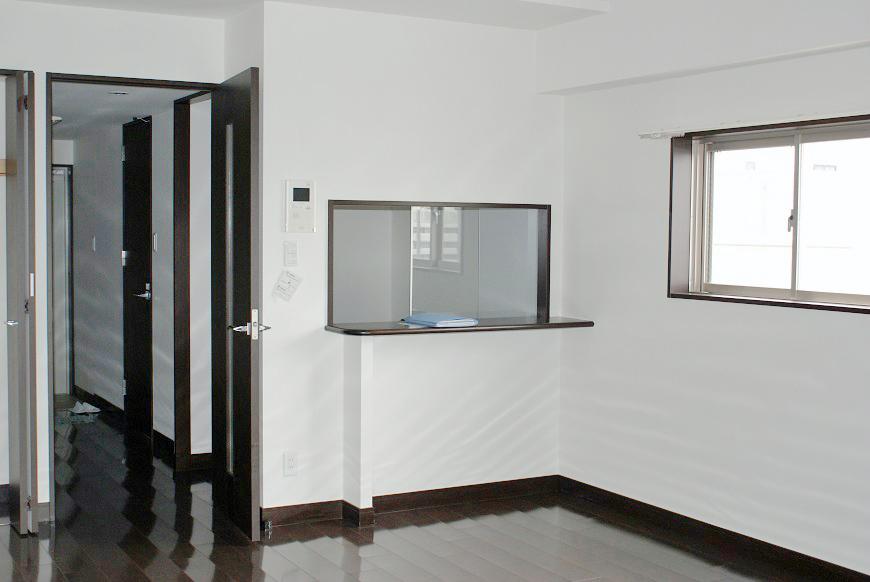 キッチンは、独立キッチンではなく、窓がついている対面キッチンでした。