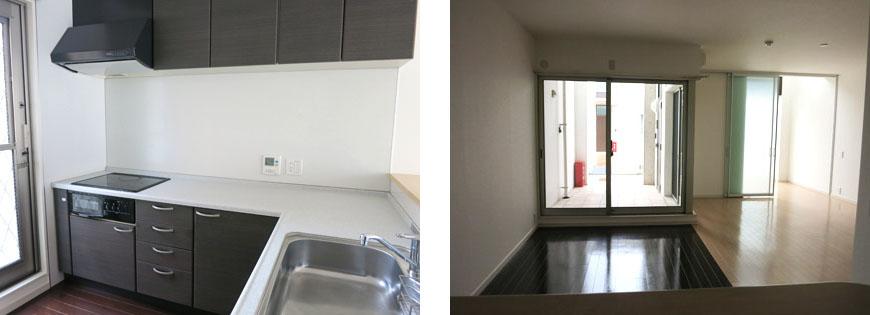 キッチンは機能、広さ共に充実!東山キッチンとダイニング870補正