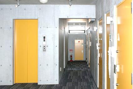 共用廊下はカーペット敷きの中廊下になっています。