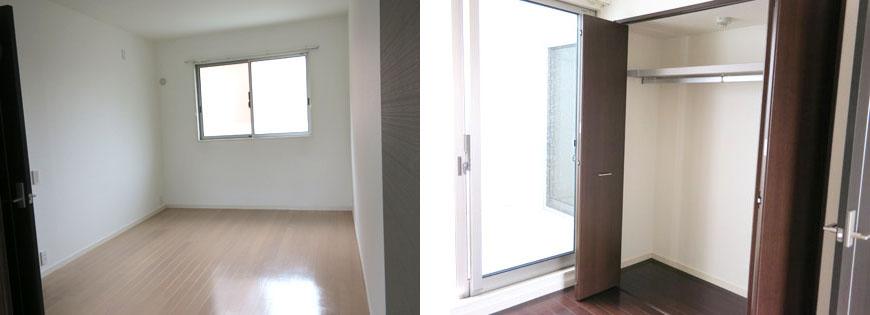 採光はもちろん、プライバシーも守る設計。東山寝室と収納870補正