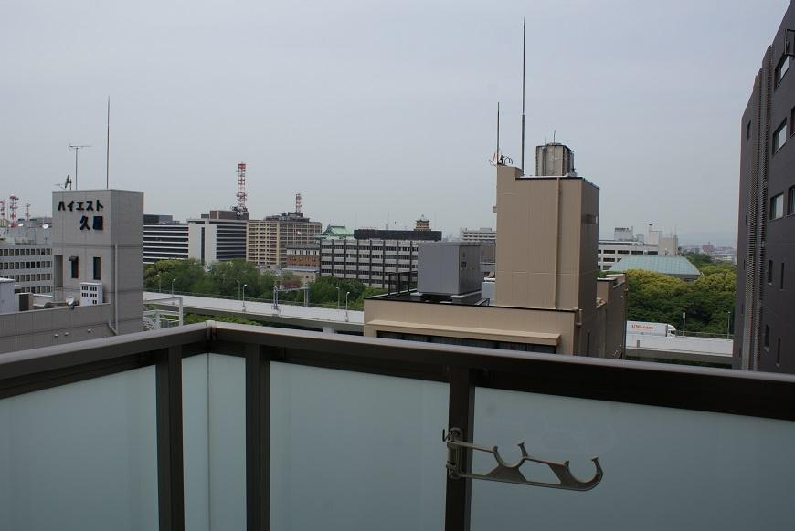 12階からの景色は、遠くの建物まで見渡せます。