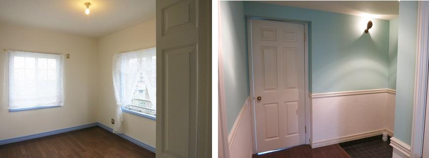 玄関横のドアを開けたら、明るい洋室があります。