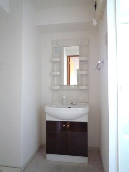 洗面台はシャンプードレッサーで、朝のスタイリングもキマリそうです。