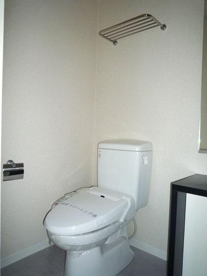 清潔感のあるシックなトイレです。