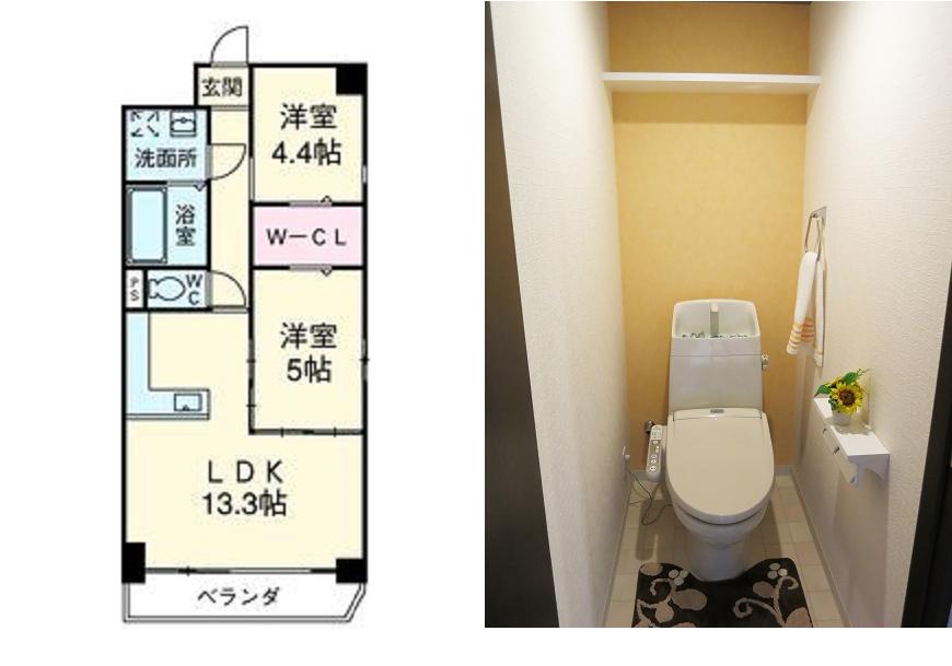 トイレ間取り