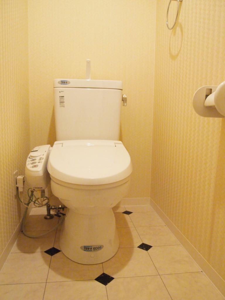 足元がかわいい、お洒落なトイレです。