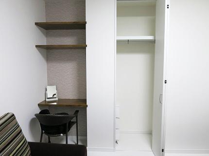 1階の個室にも、クローゼットが完備されています。