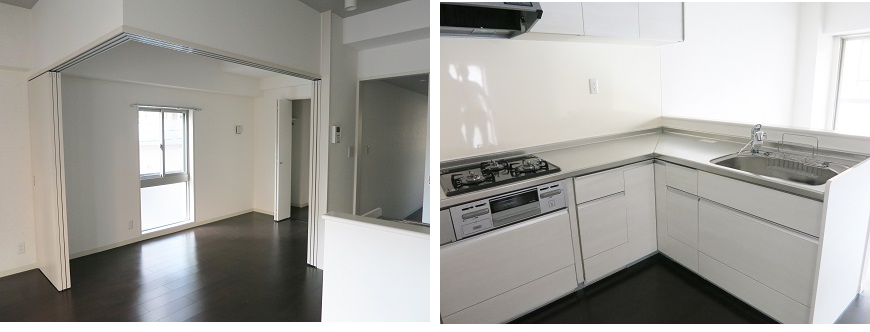ホワイトで統一されたキッチン