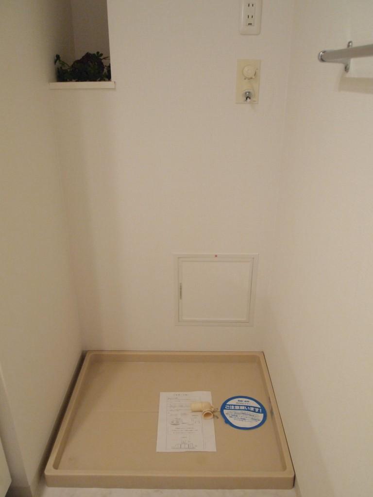 もちろん洗濯置き場も完備されています。