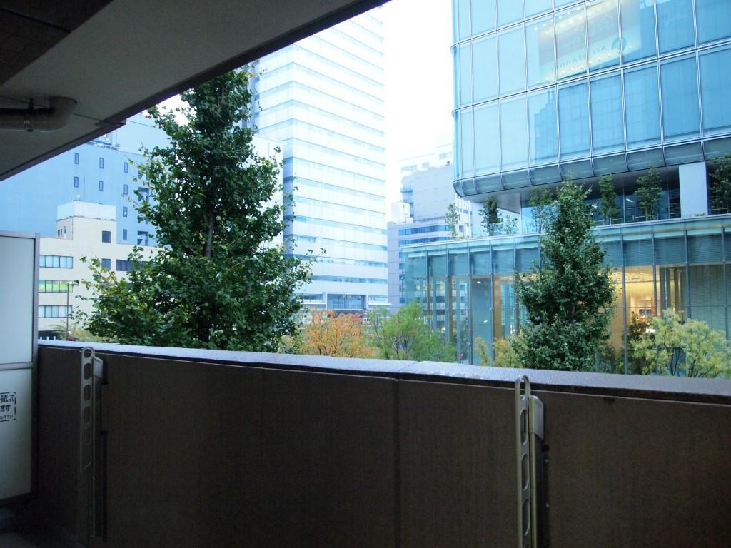302号室のベランダからの風景です。
