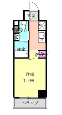 パークアクシス丸の内603号室の間取り図です。