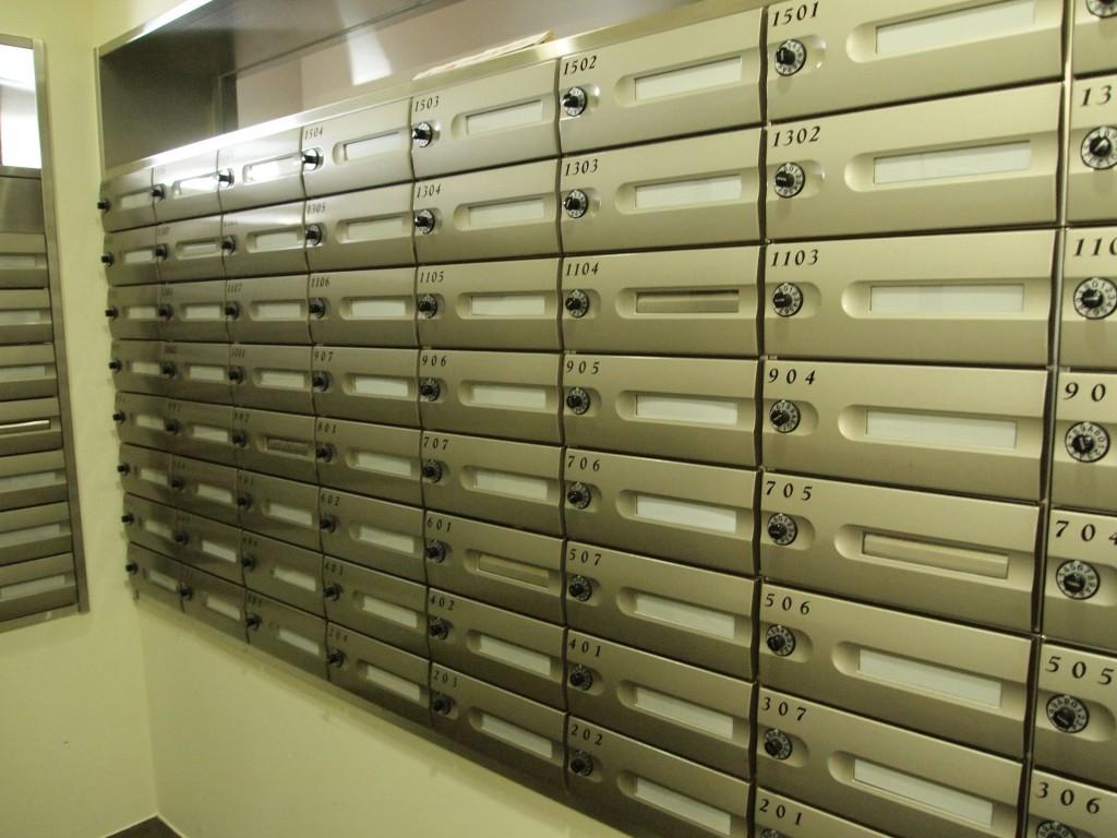 郵便受けの後ろには、宅配BOXも完備されています。