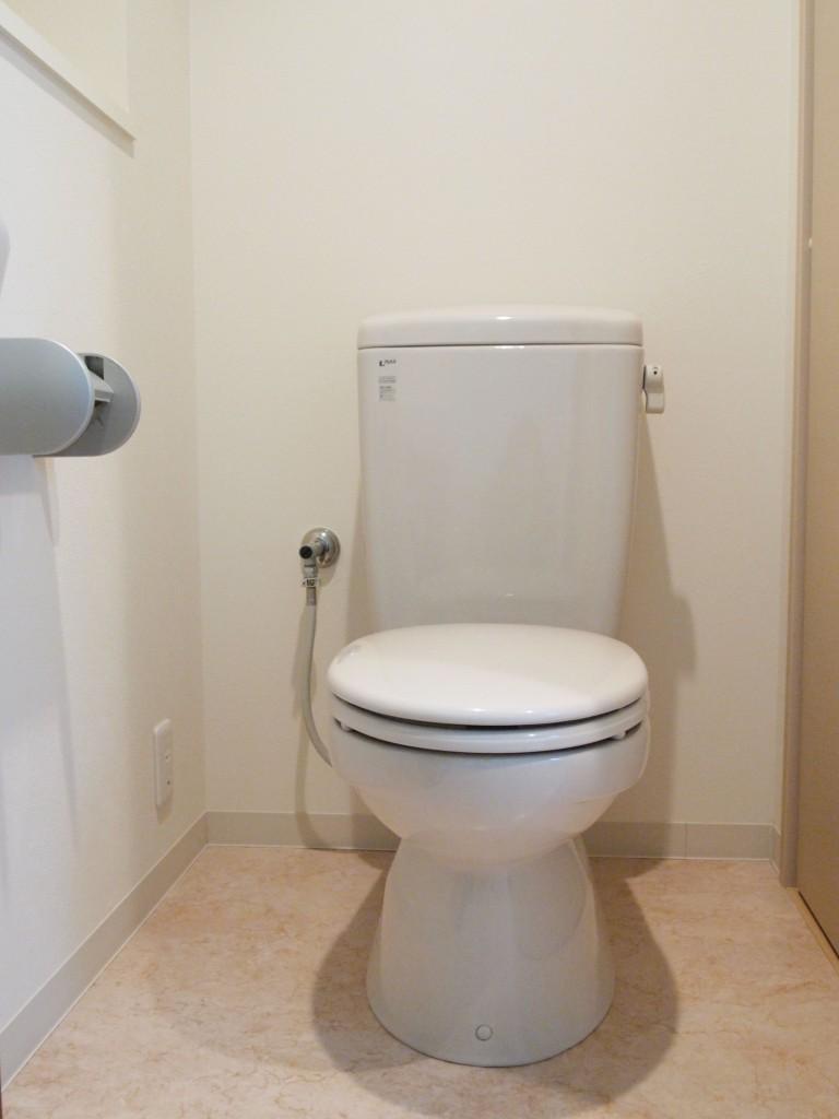 清潔感漂うきれいなトイレです。