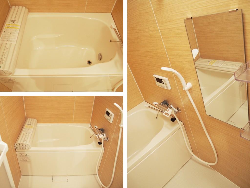 優しい色みの追い炊き機能付きお風呂bath