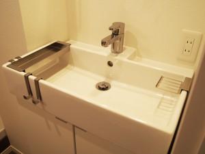 洗面台のボウルが大きいので、使い勝手がよさそうです。