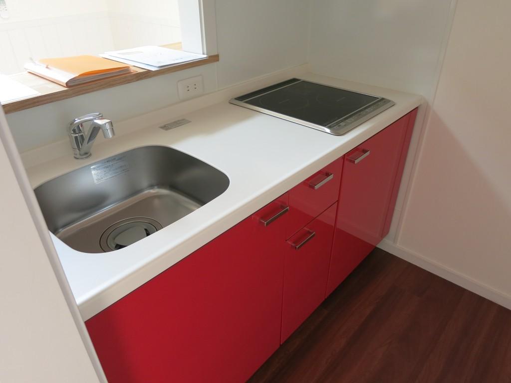 カラーバリエーション:赤いキッチン