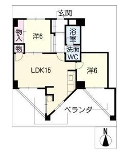 ss-23ビルの間取り図です。