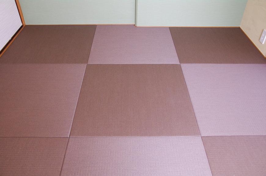 畳は縁のない琉球畳なので、モダンな印象に。IMGP7948