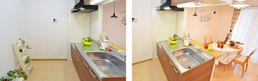 キッチンスペースも広々で嬉しいtokubo_03