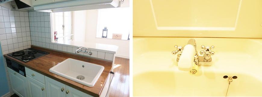 キッチンや洗面所の蛇口までかわいいです。