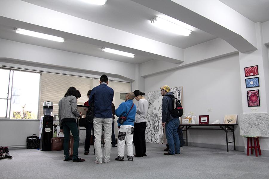 アートイベント開催中の風景です。