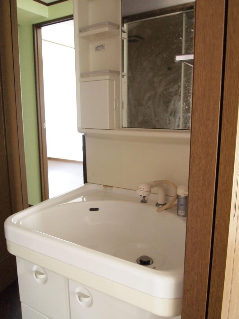 洗面はコンパクトで使いやすそう。
