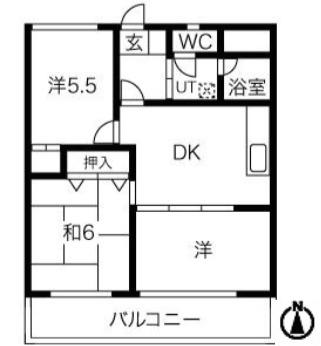 ハイツ小幡602号室の間取り図です。