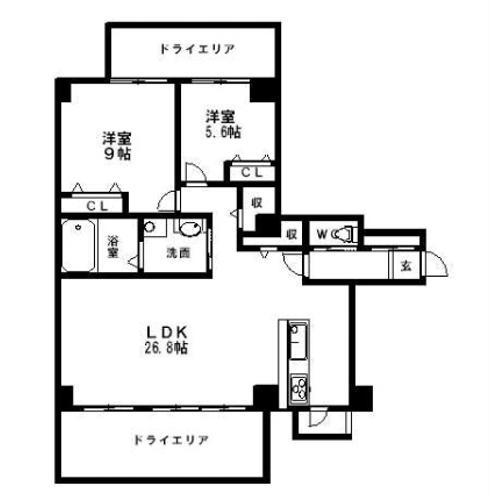 ラ・フォルトゥレス・ド・フェ覚王山(203号室)の間取り図です_50572016_12