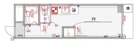 TOMOS中小田井(エクセル寿)(202号室)の間取り図です_H00400816707_1_b
