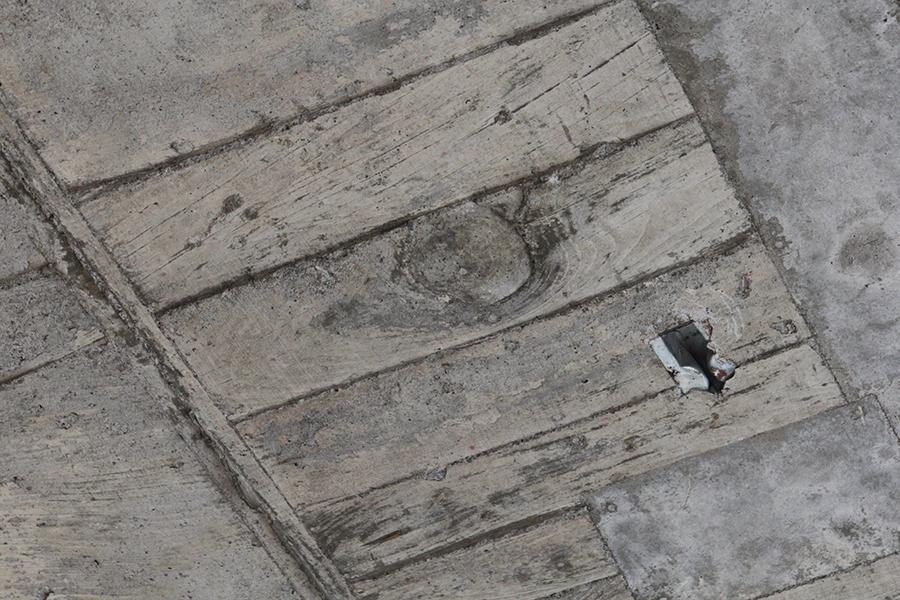 天井に残る木の化石のような佇まいはビルの歴史の名残_MG_5379s