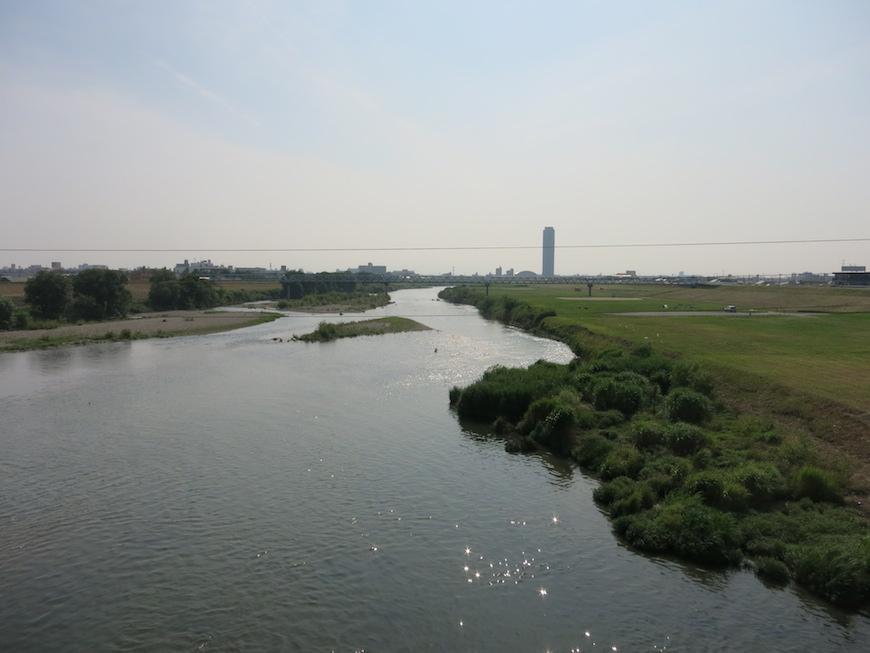徒歩5分の位置に一級河川の庄内川があります。
