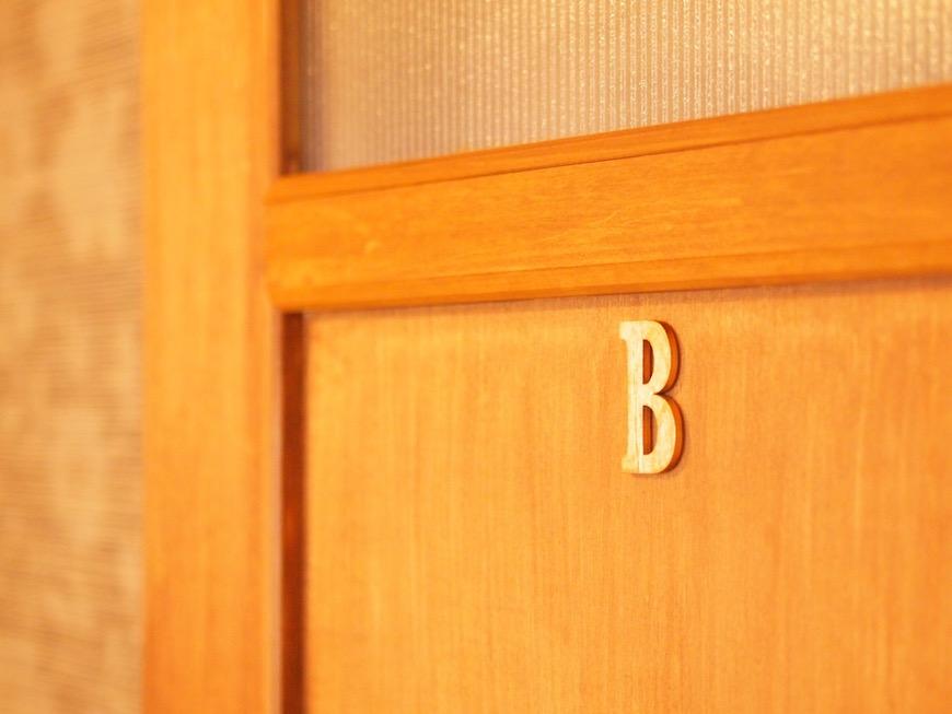 Bのお部屋。女子度の高めのお部屋になっています。