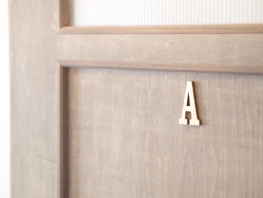 インターホンの隣にAのお部屋。