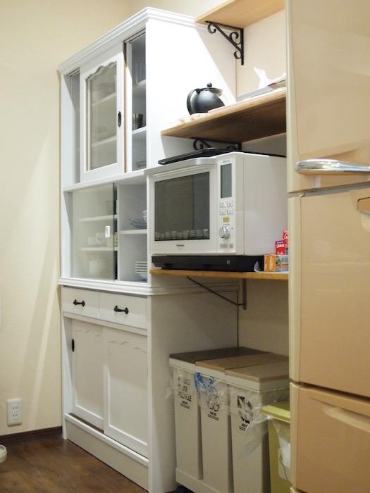 棚も余すことない収納力で使いやすいです。
