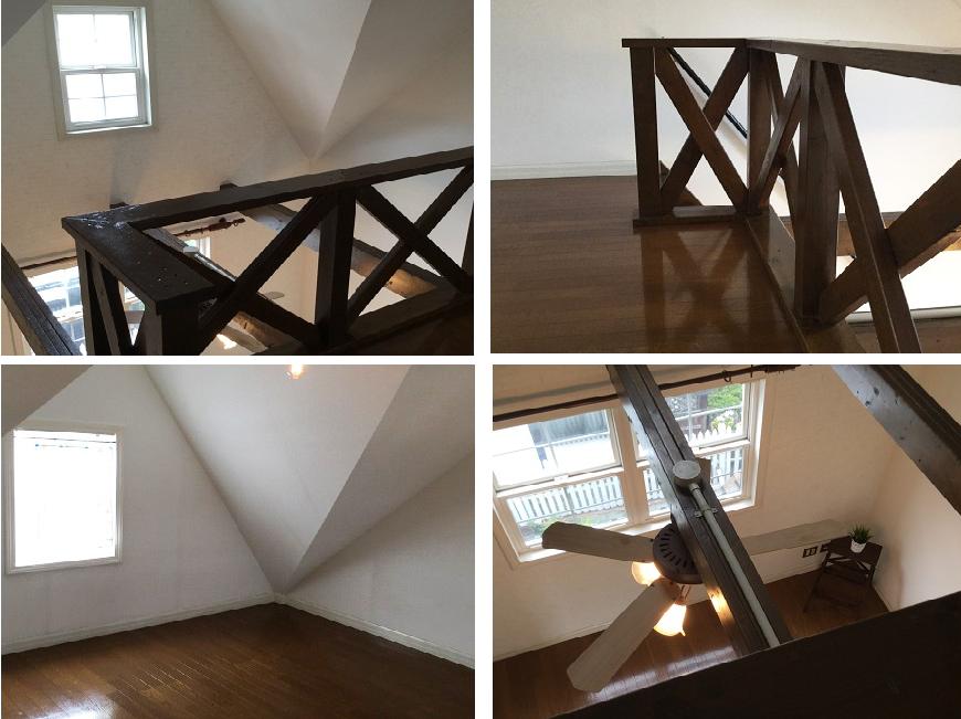 三階は、二階も見下ろせる屋根裏と思わせない解放的なスペース。