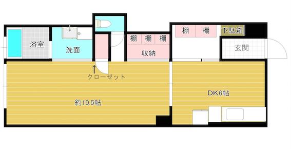 Re Plus77(リ・プラス77)(306号室)の間取り図です_間取り図_306号室