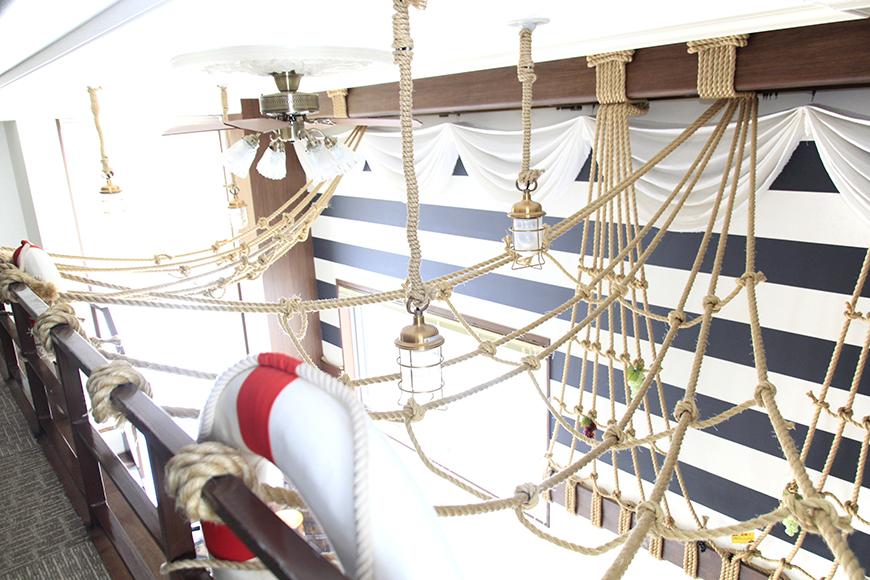 他では見れない浮き輪の飾りが、海賊船のイメージを強めてくれます。