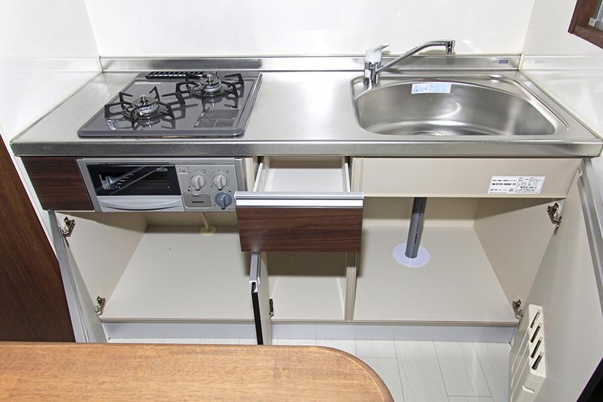 キッチンのシンク下の収納はご覧の通りです_MG_2835