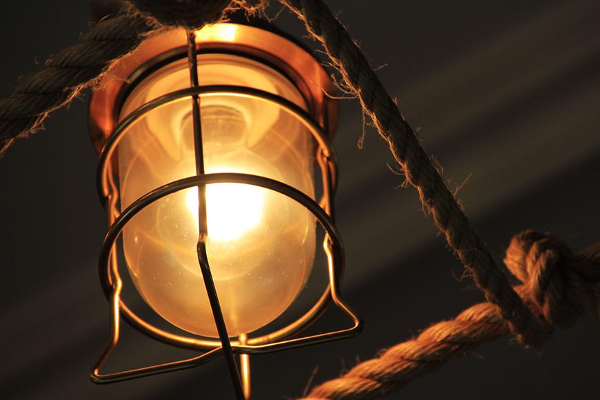 お部屋のランプをみていると、まるで海賊になった気分。