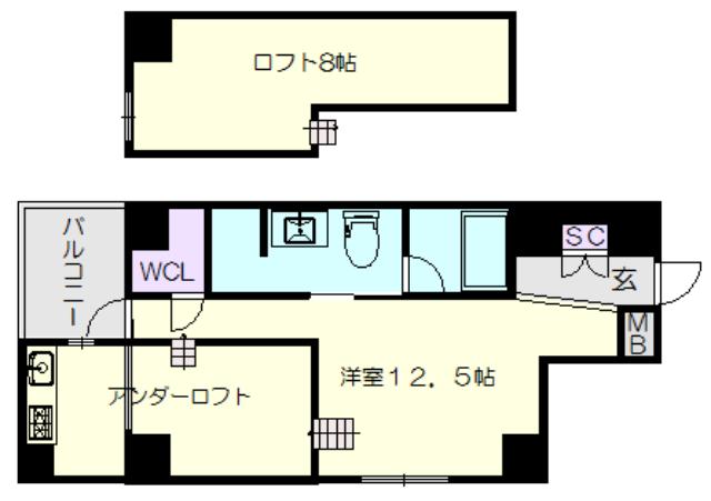 GKレジデンス(702号室)の間取り図_gk702