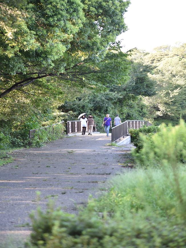 遊歩道で散歩を楽しむ人達_DSC_3705