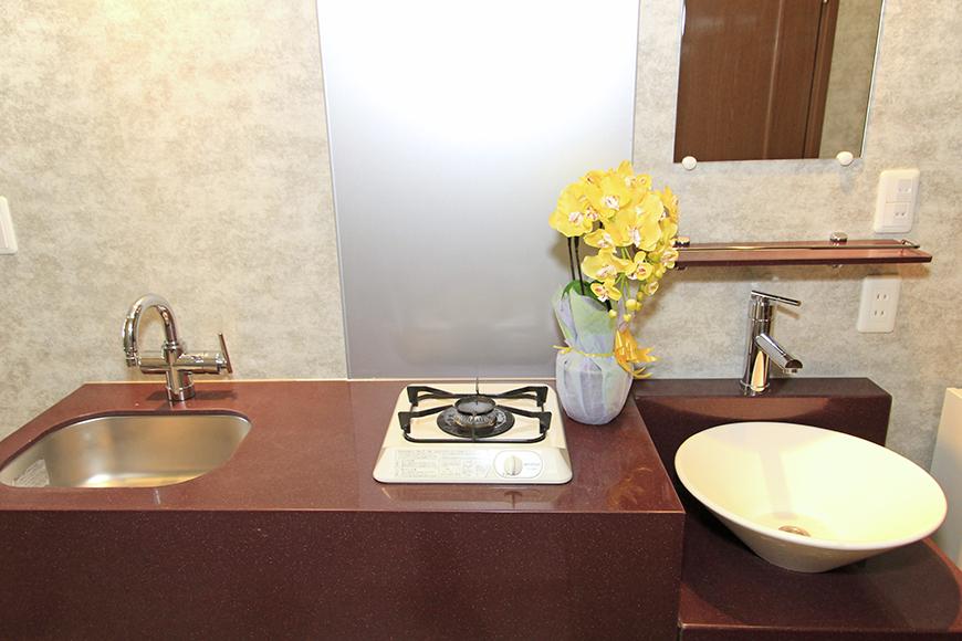 キッチンと洗面がコンパクトにまとまっています。