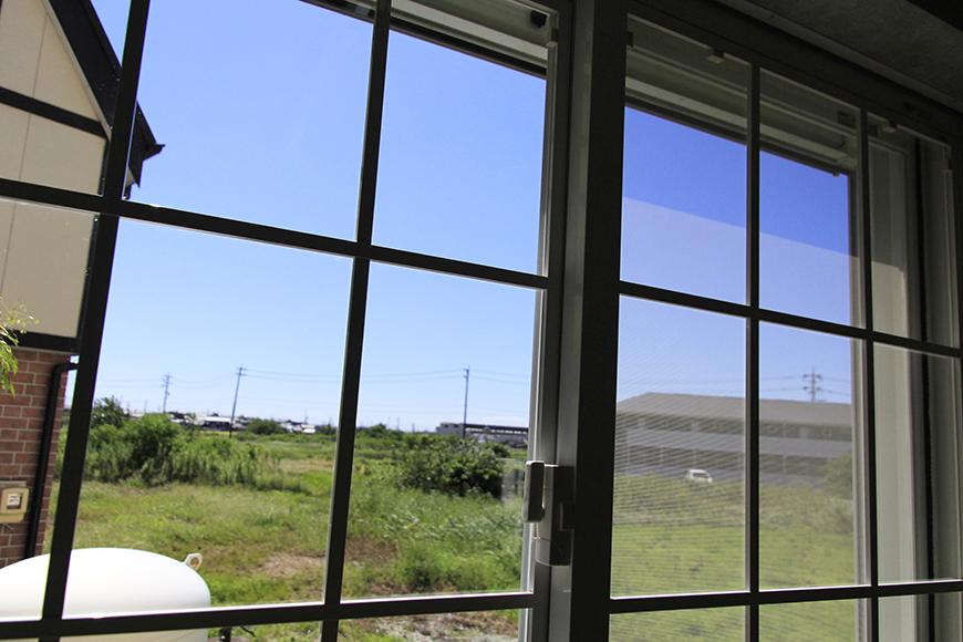 書斎スペースの窓からの眺めです。