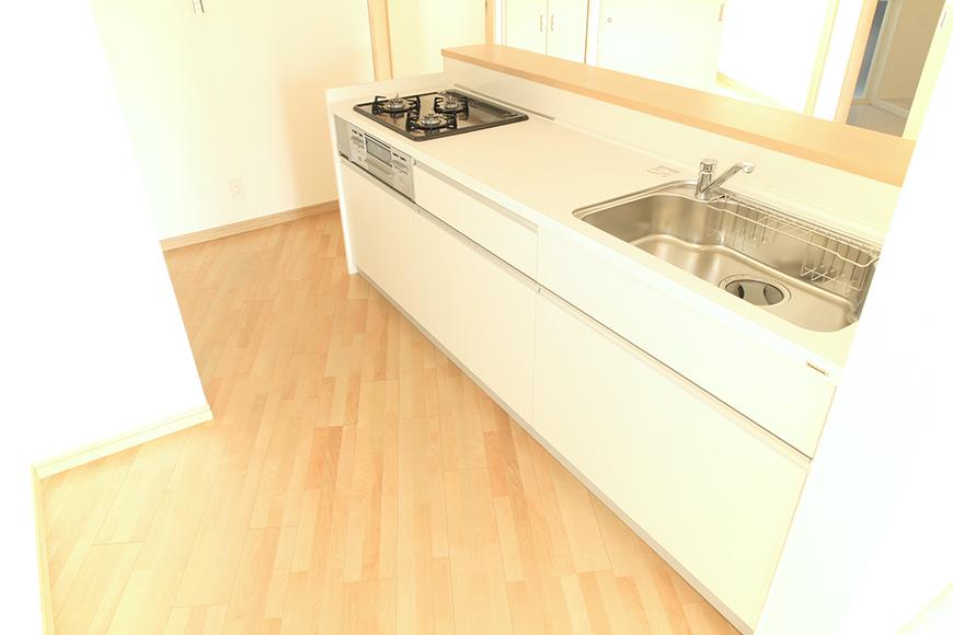 Cタイプのアイランド型キッチンのスペース_MG_8345